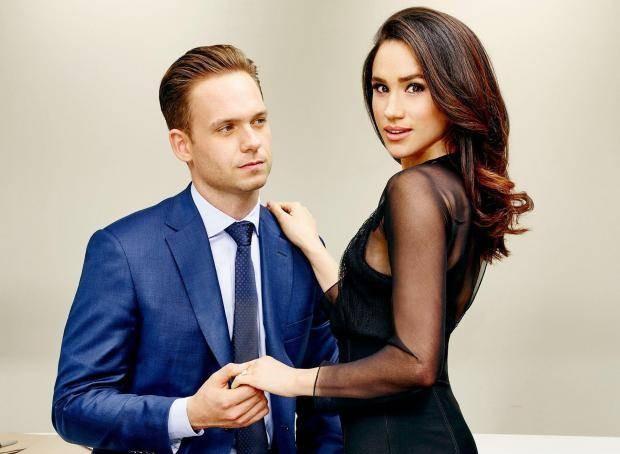 Patrick J. Adams e Meghan Markle em Suits (Foto: Divulgação)