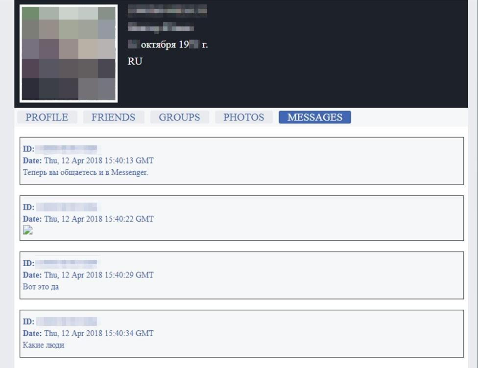 A BBC entrou em contato com cinco pessoas que confirmaram que as mensagens privadas eram delas (Foto: BBC)