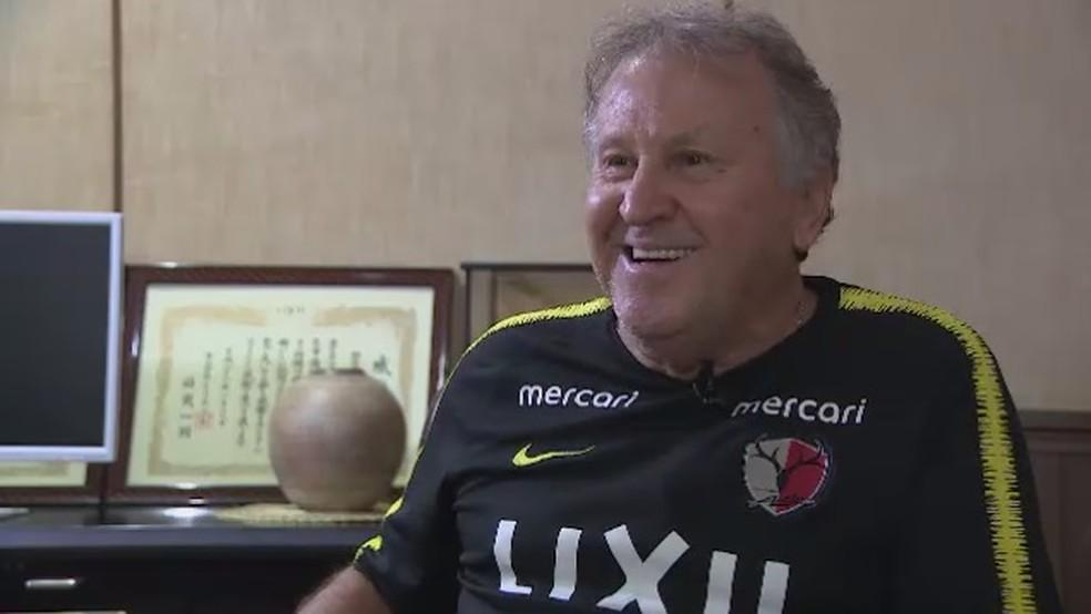 Zico revela noites em claro para ver o Flamengo direto do Japão — Foto: Reprodução TV