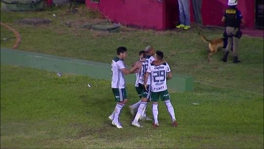 Assista ao gol da vitória do Palmeiras sobre o Sport no Recife