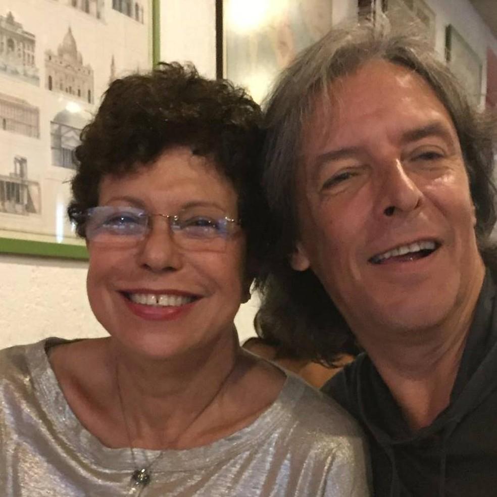 Na foto, Maria Carmem Barbosa, esposa do ator — Foto: Reprodução