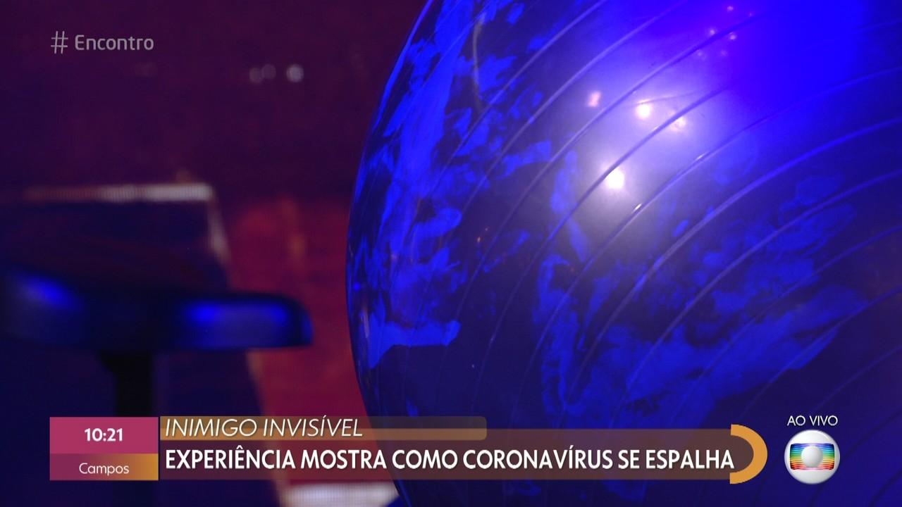 Experiência mostra como coronavírus se espalha