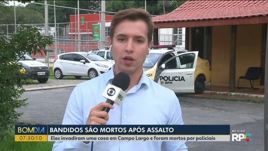 Três ladrões morrem em confronto com policiais na Região de Curitiba, diz PM