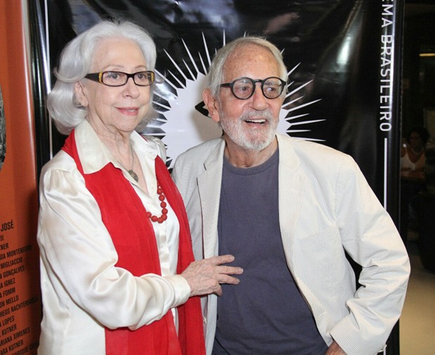 Fernanda Montenegro e Paulo José (Foto: Wallace Barbosa/AgNews)