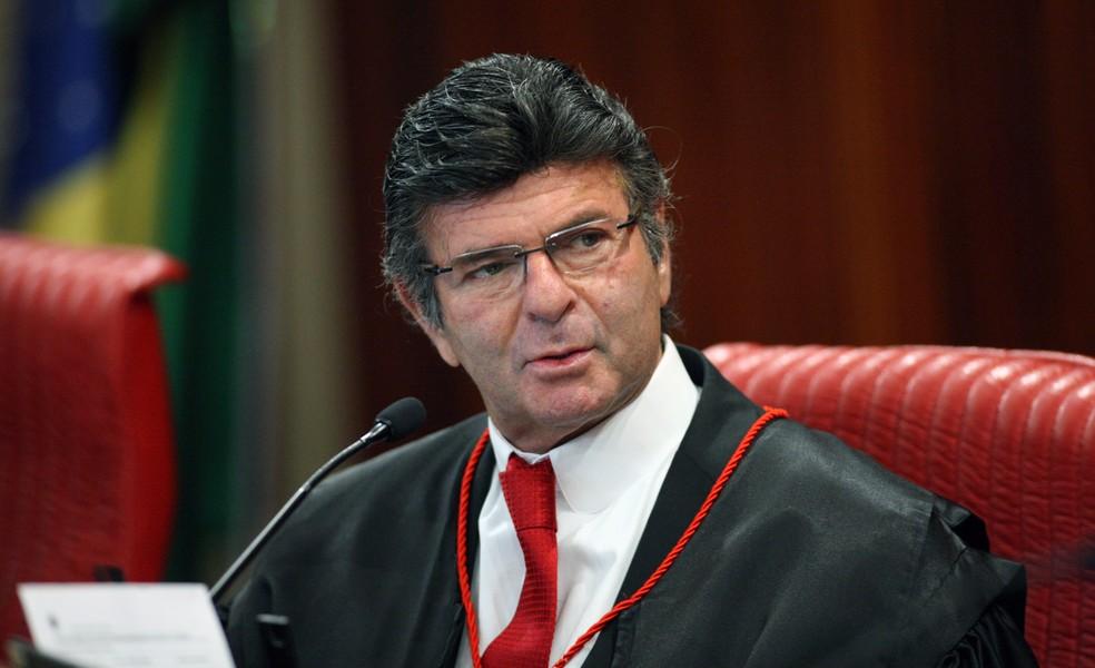 O ministro Luiz Fux durante sessão do Tribunal Superior Eleitoral (TSE). (Foto: Roberto Jayme/TSE)