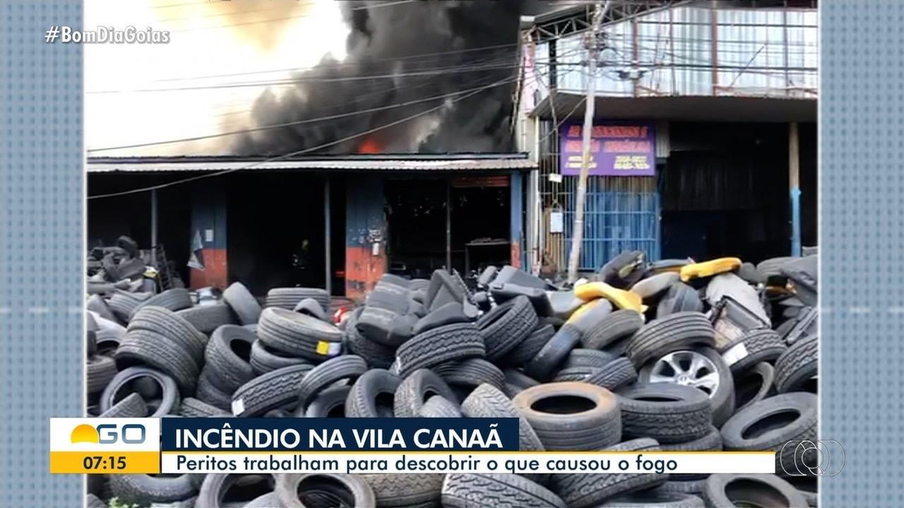 Perícia apura causas de incêndio que destruiu lojas na Vila Canaã