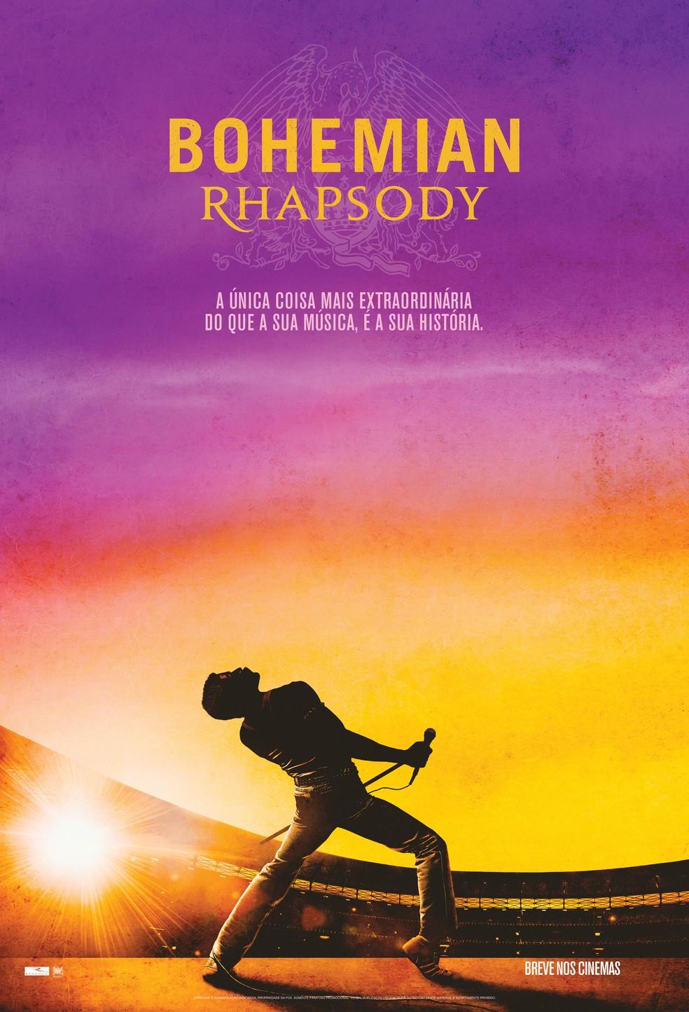 """Poster do filme """"Bohemian Rhapsody"""" (Foto: Divulgação)"""