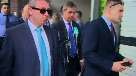 Reino Unido enfrenta onda de ataques de milkshakes