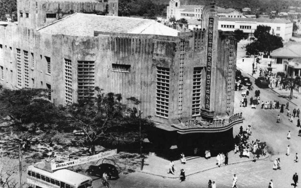 Cine Teatro Goiânia, inaugurado em 1942, no Batismo Cultural — Foto:  Hélio de Oliveira/ Secult