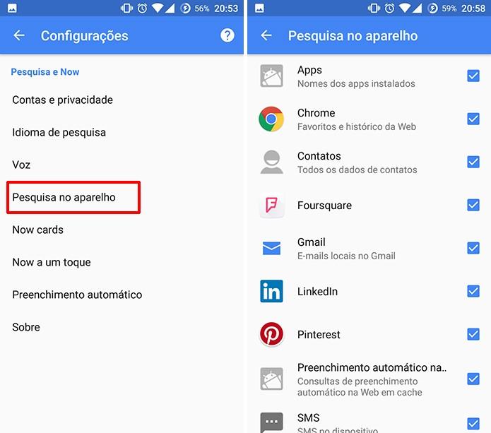 Google App permite retirar conteúdo local de pesquisas na barra (Foto: Reprodução/Elson de Souza)