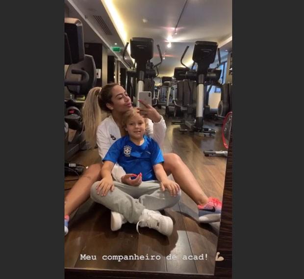 """Rafaella e Davi Lucca: """"companheiro de academia"""" (Foto: Reprodução / Instagram)"""
