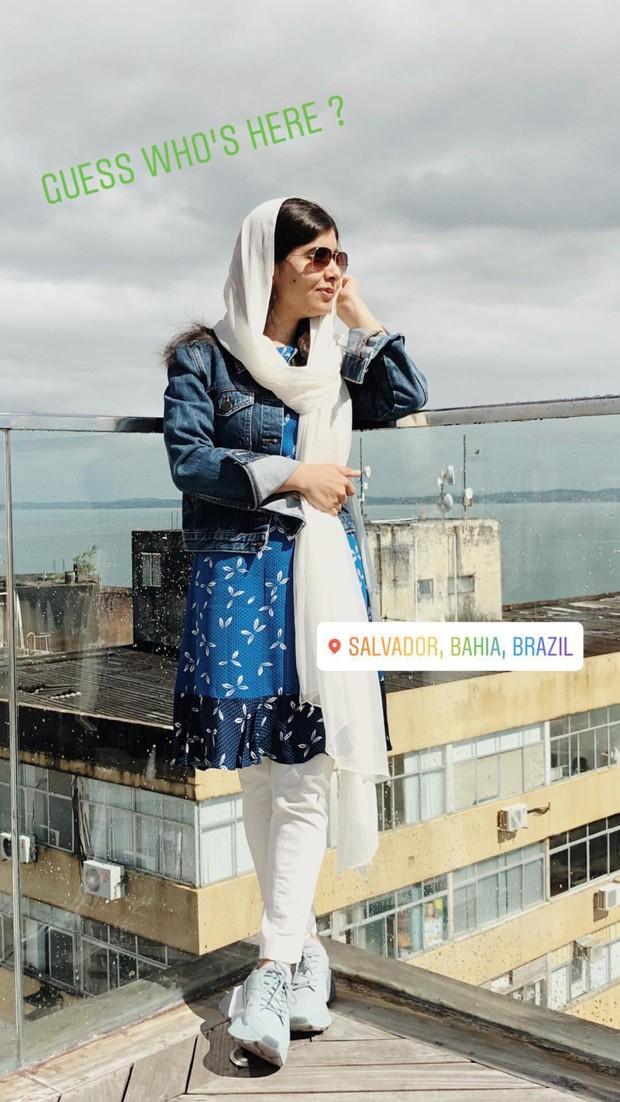 Malala Yousafzai  em visita a Salvador (Foto: Reprodução/Instagram)