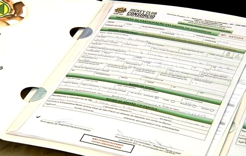 Contrato de adesão era vendido com promessa de contemplação sem sorteio, o que não ocorria (Foto: Reprodução / TV TEM)