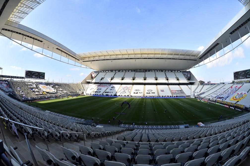Arena Corinthians será o palco da primeira final do Paulistão 2020 — Foto: Marcos Ribolli
