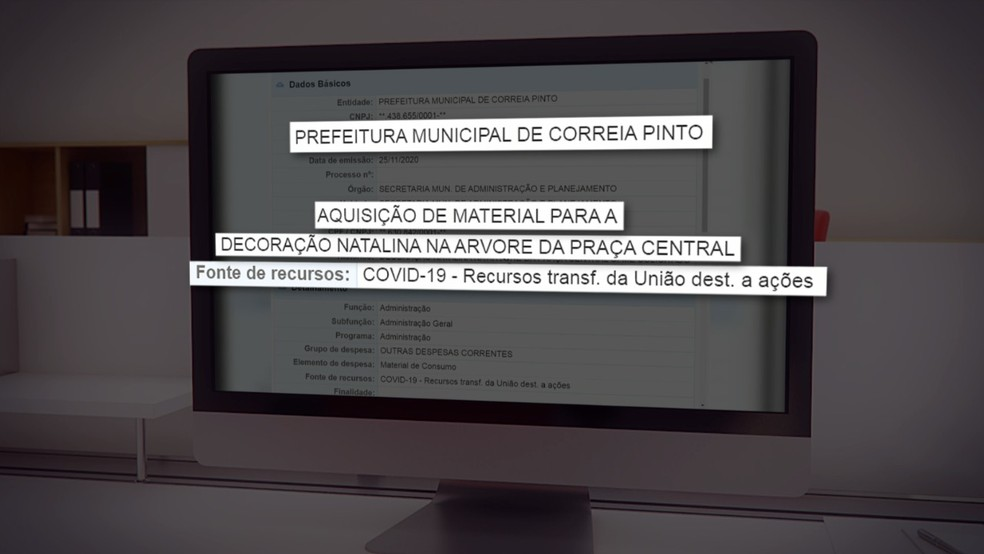Gastos de Correia Pinto (SC) — Foto: NSC TV/Reprodução