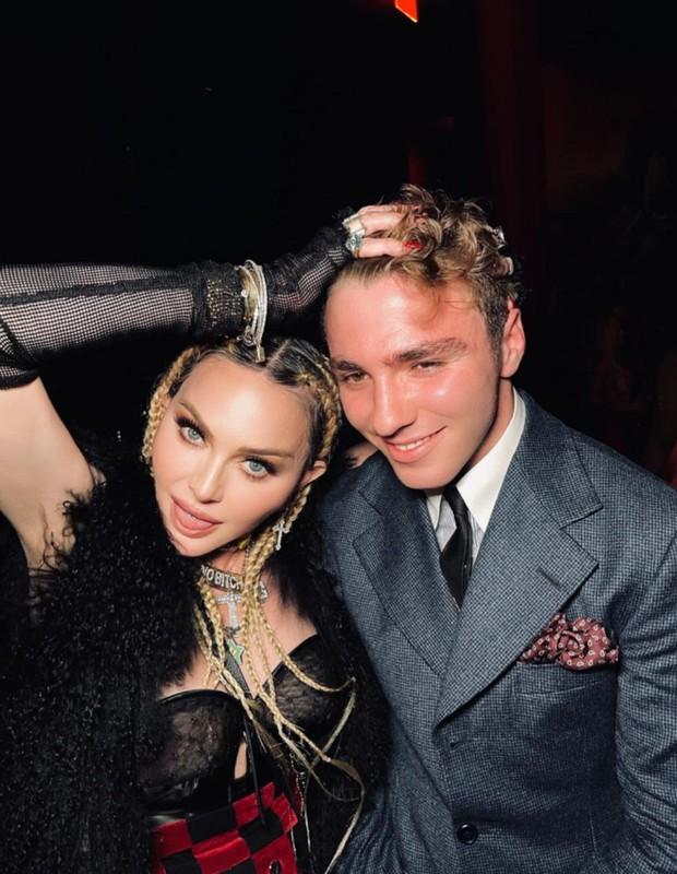 Madonna e filho mais velho, Rocco, em festa privada de lançamento de Madam X (Foto: Reprodução/Instagram)