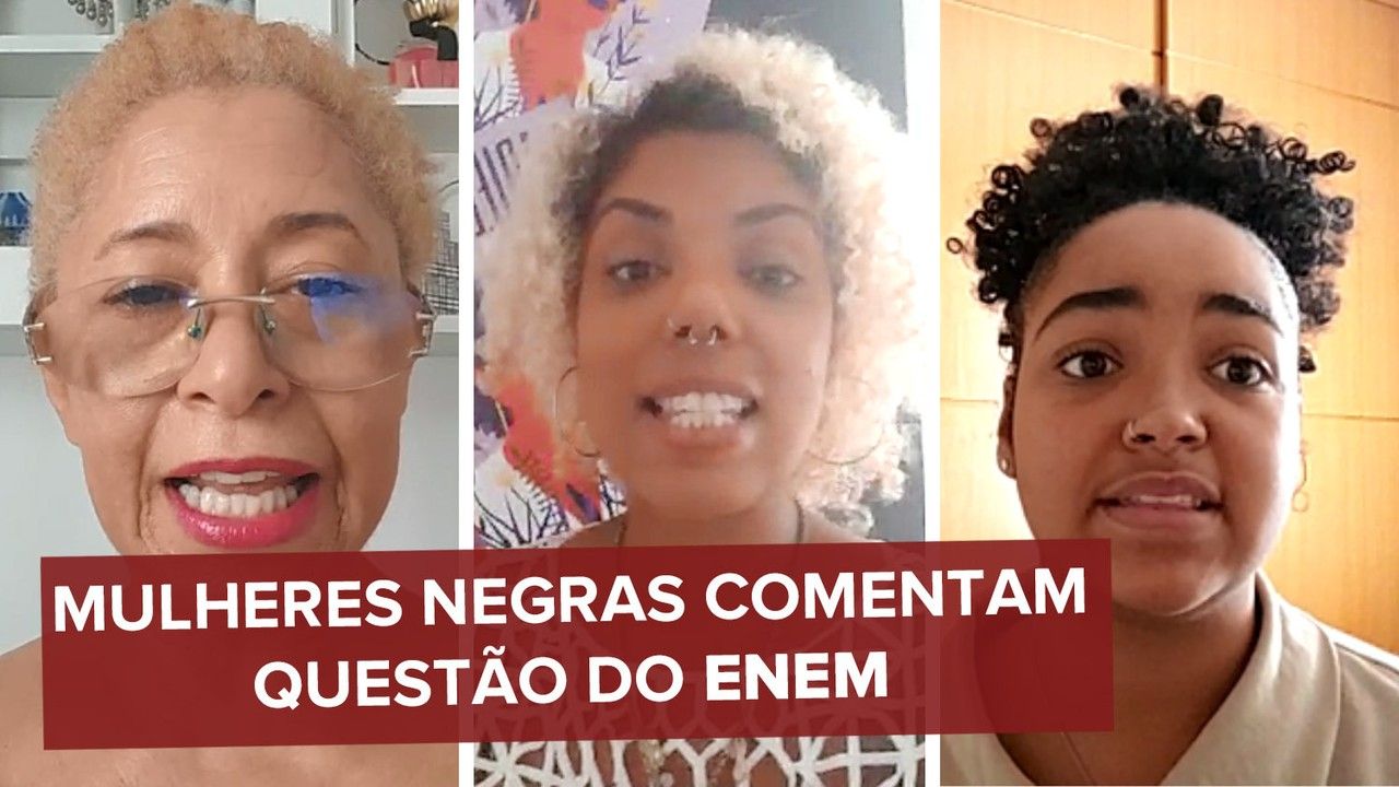 Mulheres negras afirmam que gabarito oficial do Enem 2020 traz resposta racista