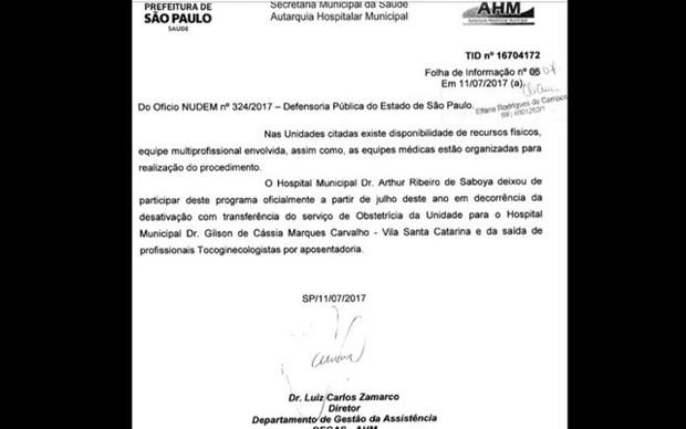 Hospital do Jabaquara deixa de oferecer serviço de aborto legal (Foto: Reprodução)