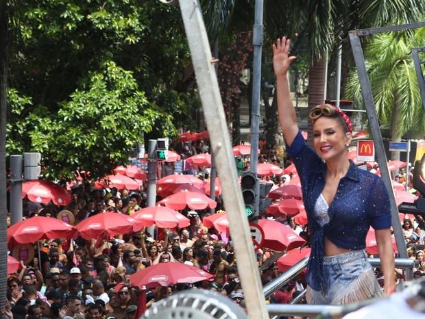 Claudia Leitte faz sua estreia no Carvanal do Rio de Janeiro com bloco de rua (Foto: Reginaldo Teixeira)