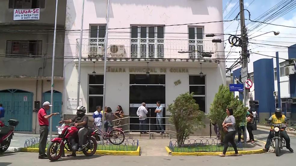 Câmara Municipal de Goiana afirma ter concedido crédito de R$ 320 milhões à prefeitura em 2019 — Foto: Reprodução/TV Globo