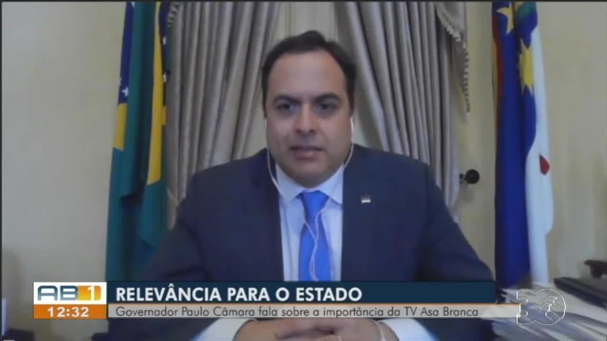 Governador Paulo Câmara ressalta importância da TV Asa Branca para Pernambuco: 'Só tenho a agradecer'