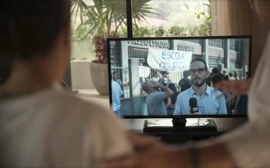 Léo Rosa em cena de 'Amor de mãe' (Foto: TV Globo)
