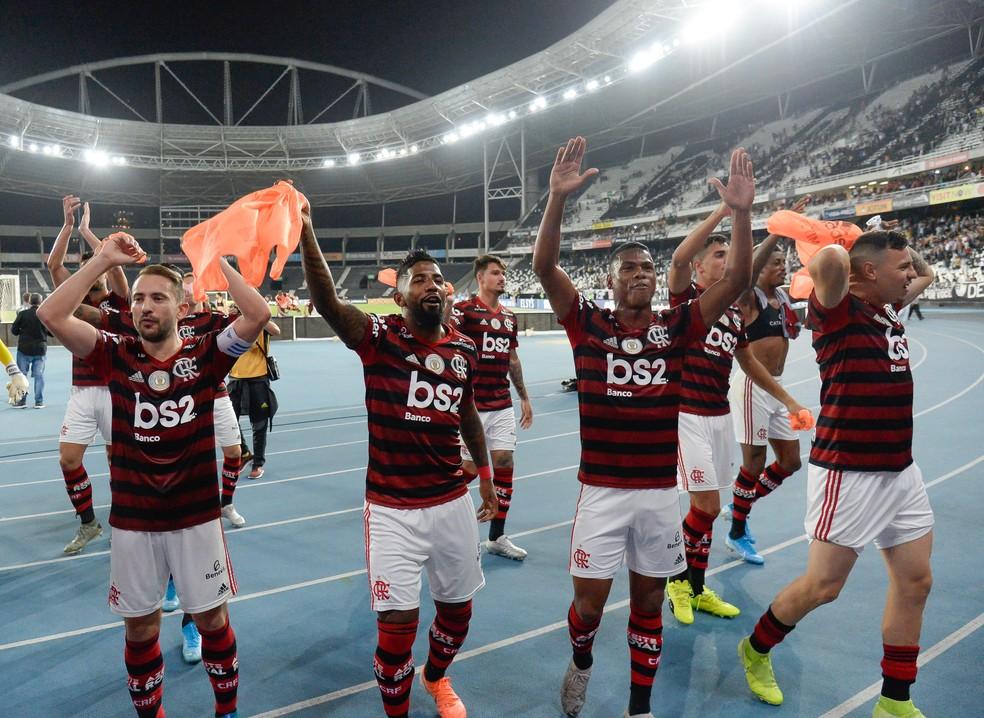 Última vitória do Flamengo foi contra o Botafogo, no Engenhão — Foto: Alexandre Vidal