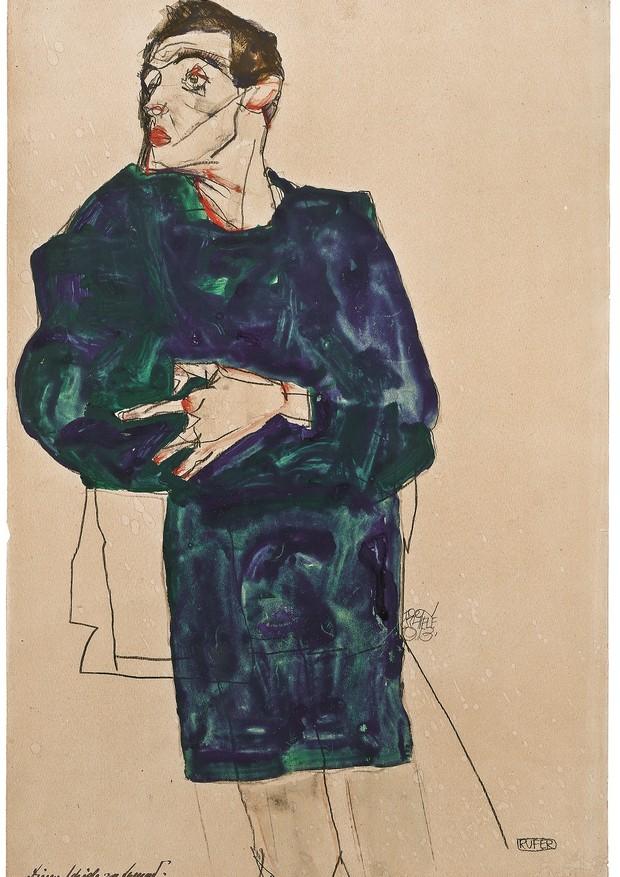 Obra de Schiele, de 1913 (Foto: Divulgação)