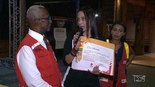 Cruz Vermelha presta homenagem para o Grupo Mirante em São Luís