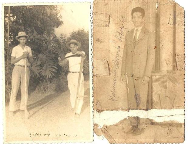 Foto da família mostra Raimundo na cidade rural em que nasceu na década de 1960 (Foto: Arquivo pessoal)