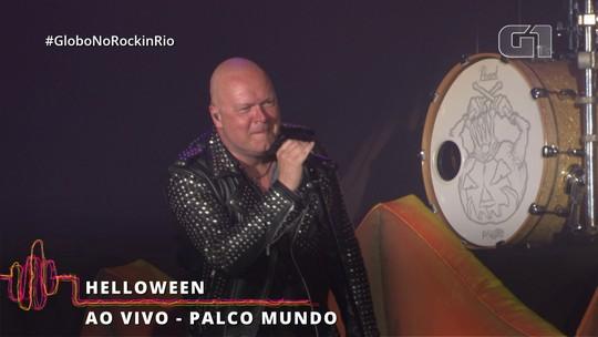 Helloween mostra que é mais que substituto de Megadeth com formação 'lendária' no Rock in Rio