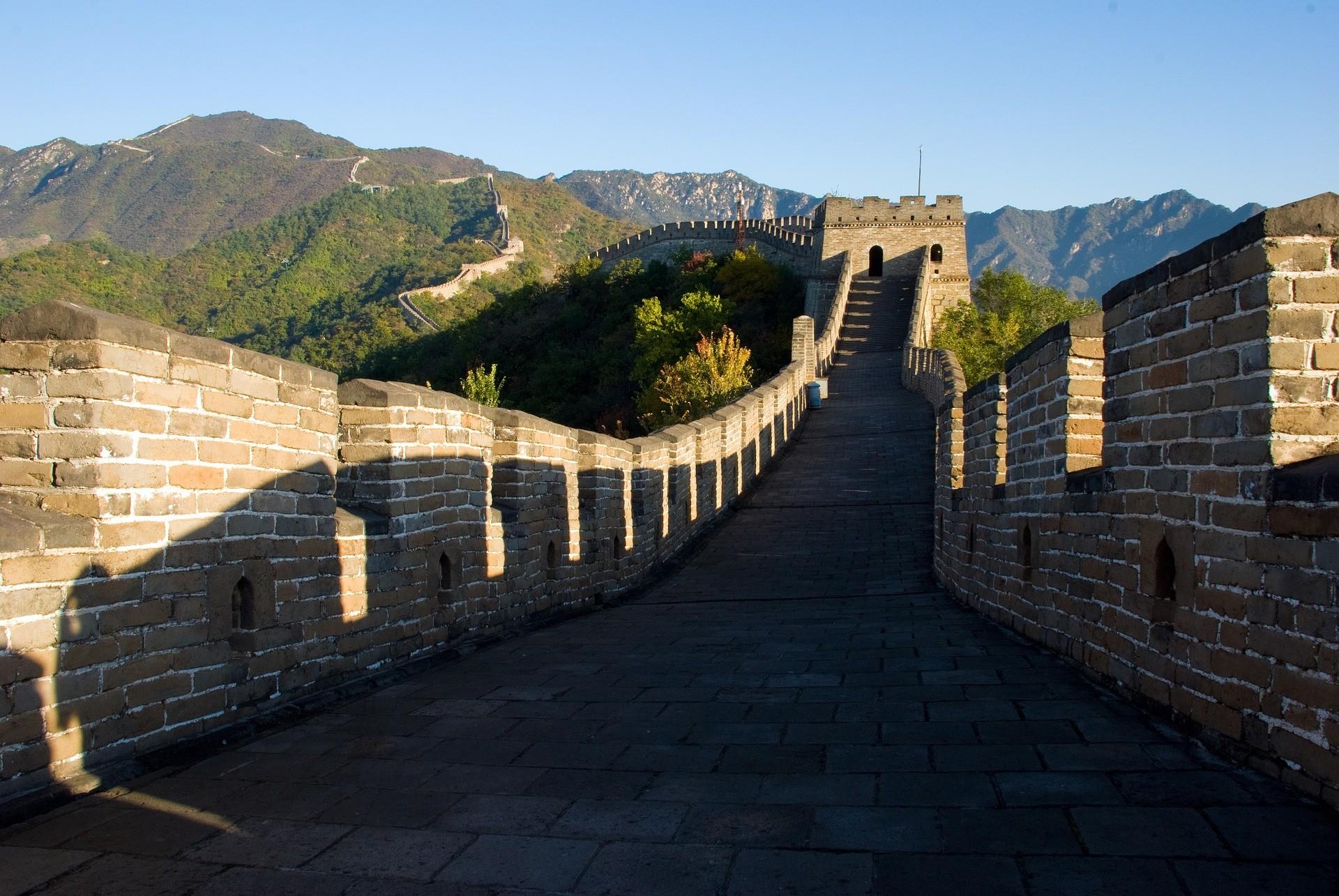 Muralha da China não foi construída apenas para evitar invasões (Foto: kai li/Pixabay)