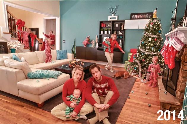Cartão de Natal de 2014 enviado por Joanathan e a esposa aos parentes (Foto: Reprodução Facebook)