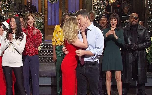 Scarlett Johansson and Colin Jost on Saturday Night Live (picture: Twitter)
