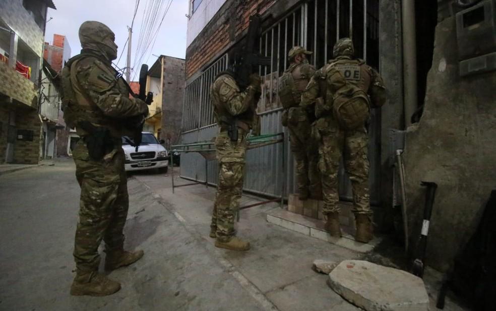 Operação foi deflagrada nas primeiras horas desta terça-feira — Foto: Divulgação/SSP-BA