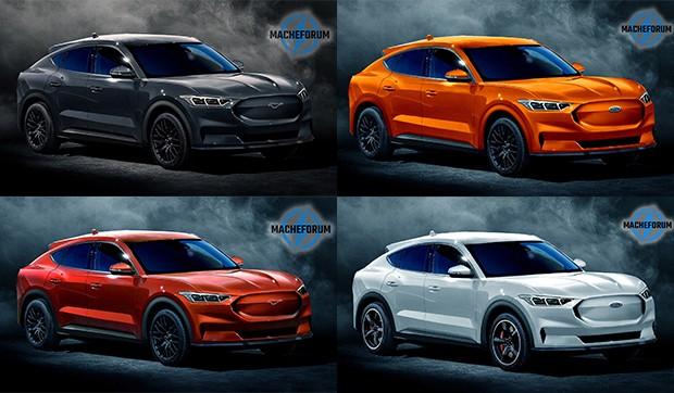 As projeções foram feitas em cinco cores  (Foto: Divulgação/Autoesporte)