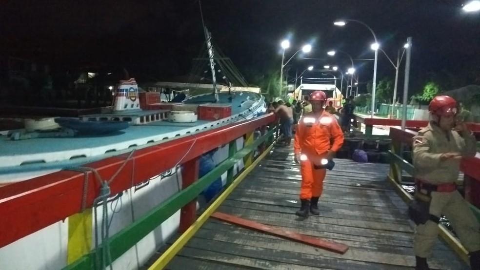 whatsapp image 2019 04 03 at 22.22.35 - Navio começa a naufragar e consegue parada emergencial em porto de Barcarena, no PA