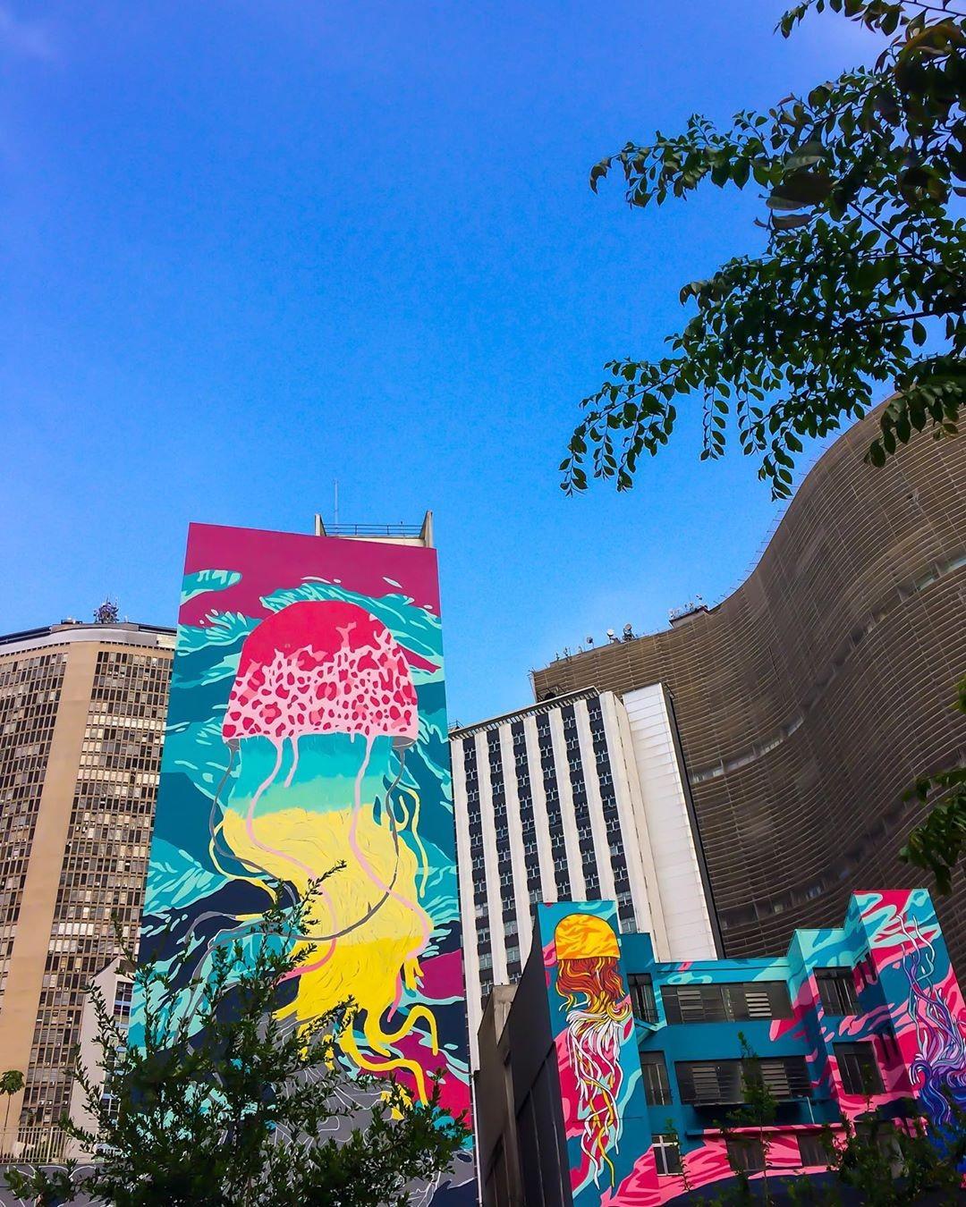 Justiça de SP decreta apagamento de grafite em maior intervenção urbana do mundo (Foto: Reprodução/Instagram/@carolineazd)