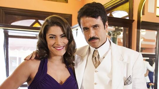 Priscila Fantin posa deslumbrante com Eriberto Leão nas primeiras cenas de 'Êta Mundo Bom!'
