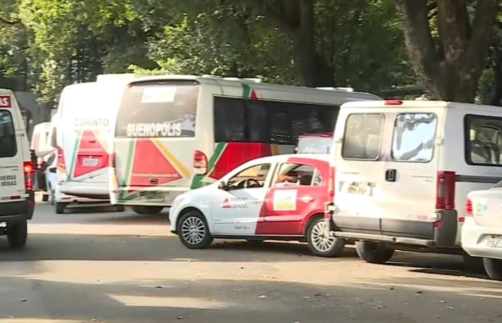 Em Minas Gerais, parte da frota de ambulâncias deixou de circular (Foto: Reprodução TV Globo)