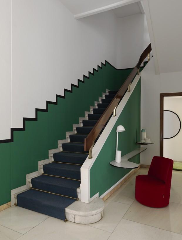 Tendência de cores: hall de entrada em tons de verde (Foto: Divulgação)