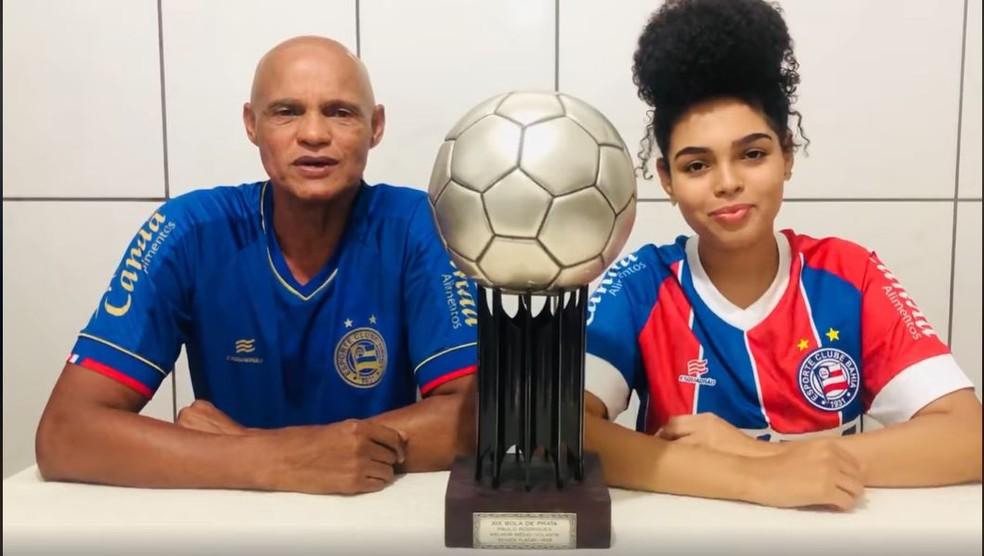 Paulo Rodrigues, ex-volante do Bahia, decidiu leiloar Bola de Prata — Foto: Reprodução