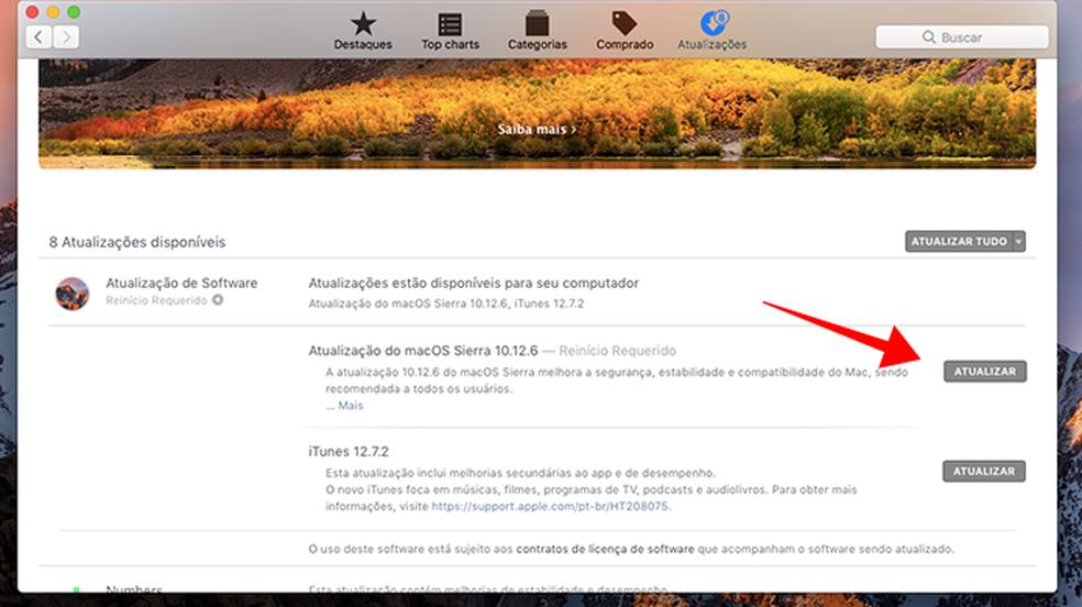 Atualize o macOS para a versão 10.13.2 (Foto: Reprodução/Paulo Alves)
