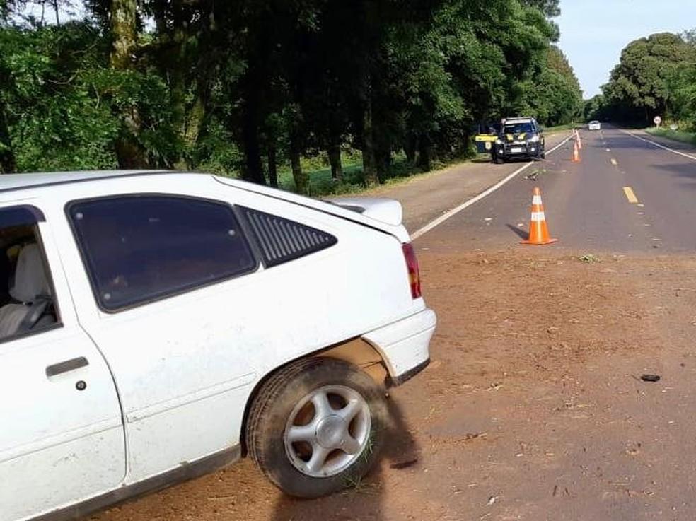 Mulher morre em acidente em Mato Castelhano — Foto: Polícia Rodoviária Federal/Divulgação