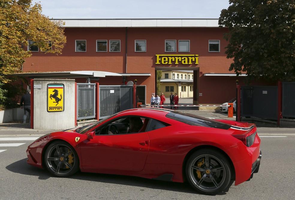 Fábrica da Ferrari, em Maranello — Foto: Stefano Rellandini / Reuters