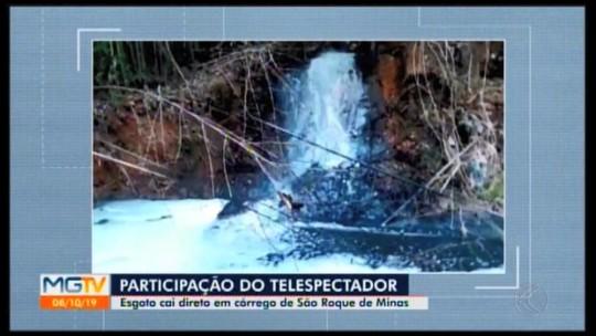 Moradores de São Roque de Minas estão preocupados com situação de córrego
