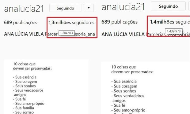 Ana Lúcia Vilela, noiva de Lucas Fernandes, ganha seguidores após eliminação (Foto: Reprodução/Instagram)