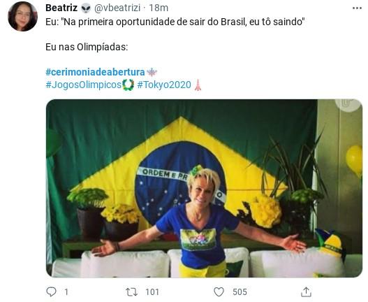 Internauta faz meme sobre a cerimônia de abertura dos Jogos Olímpicos (Foto: Reprodução)