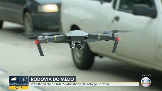 Policiamento na Niterói-Manilha, RJ, ganha drones e veículo blindado