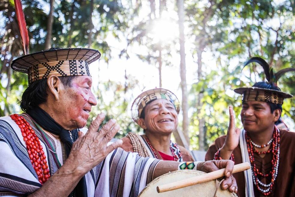 Ashaninkas se concentraram nos roçados para garantir boas plantações de legumes, frutas e verduras durante a pandemia — Foto: Arison Jardim/Associação Apiwtxa